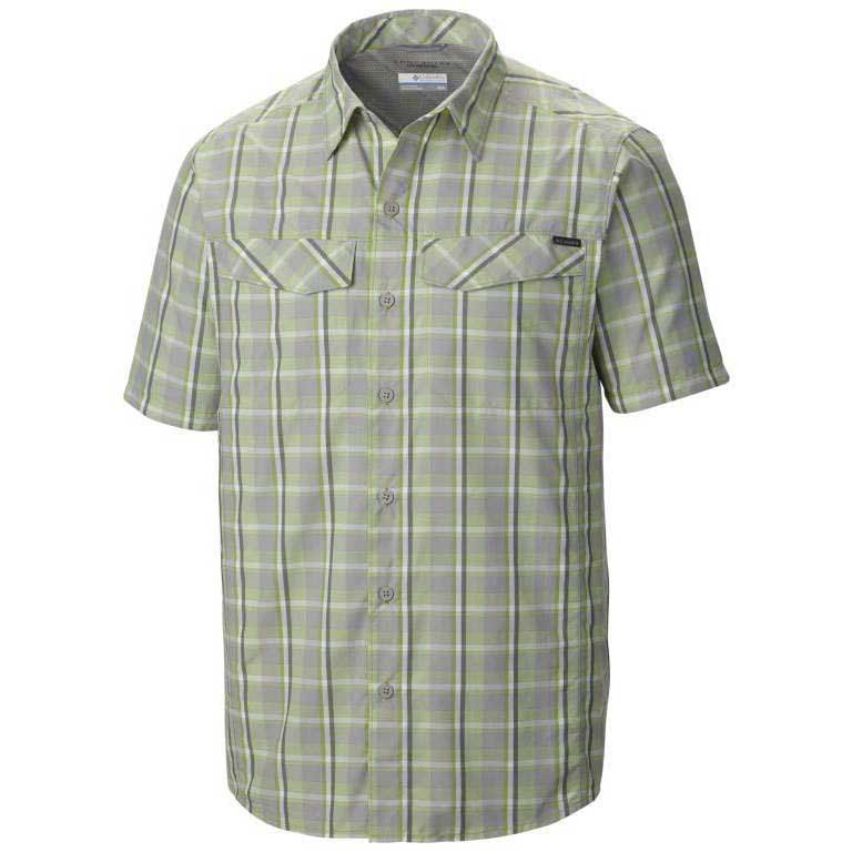 Columbia Silver Ridge Multi Plaid S/S S Columbia Grey End on End Plaid
