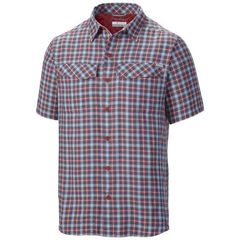 Columbia Silver Ridge Multi Plaid S/S S Sunset Ripstop Plaid