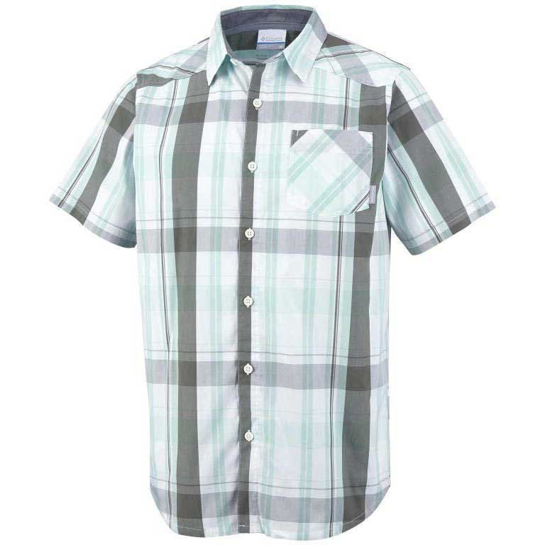COLUMBIA Decoy Rock II S/S Shirt Gulf Stream / Plaid