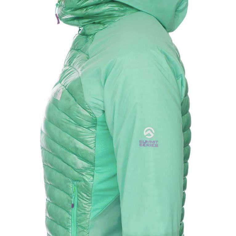 7018f63a6 the north face verto micro down hoodie jacket womens green