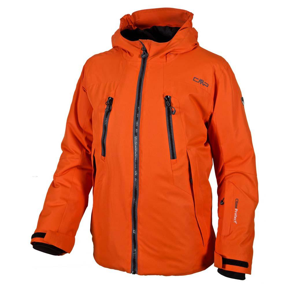 Cmp Jacket Fix Hood / Grey / Black / Spicy Orange Boys