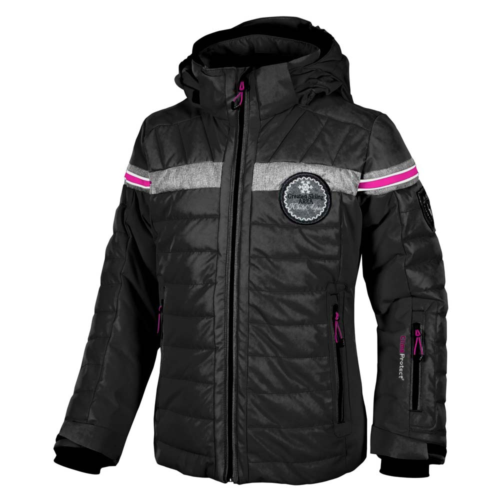 Cmp Jacket Stretch Twill Snaps Hood Girls