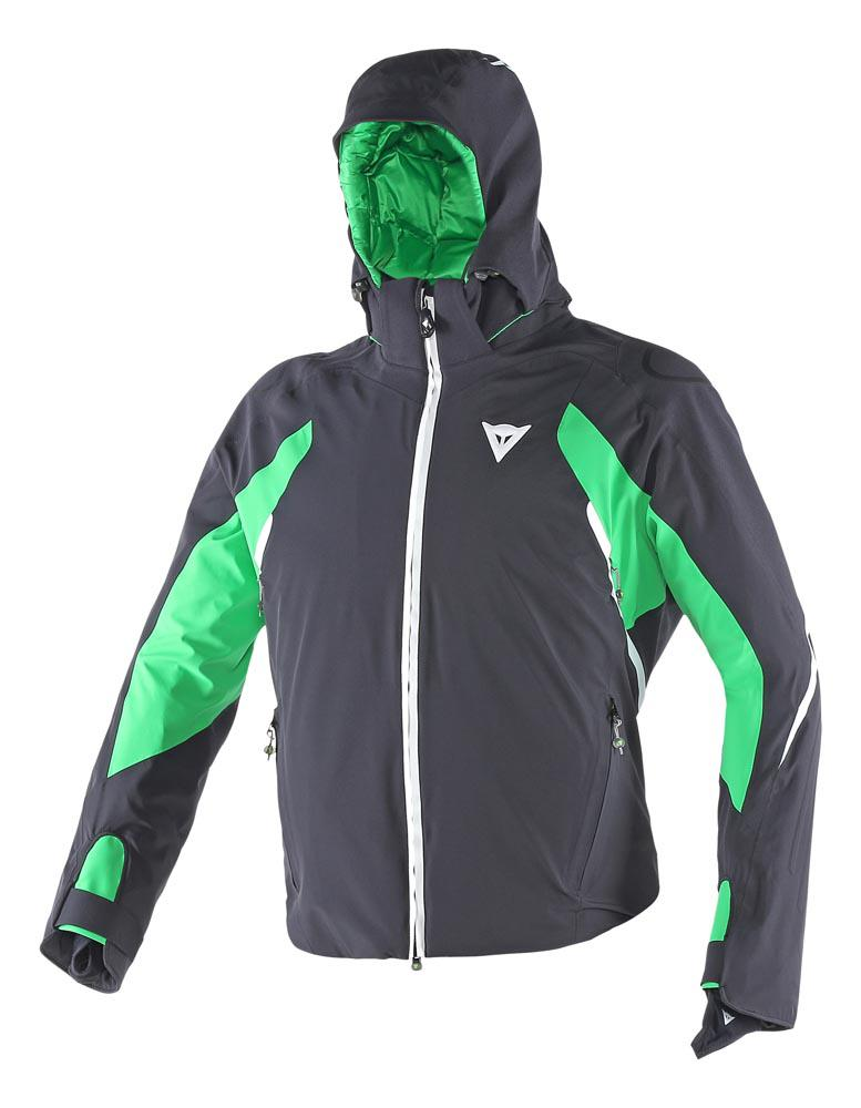 Dainese Egemone D-Dry Jacket Black/Eden-Green/White