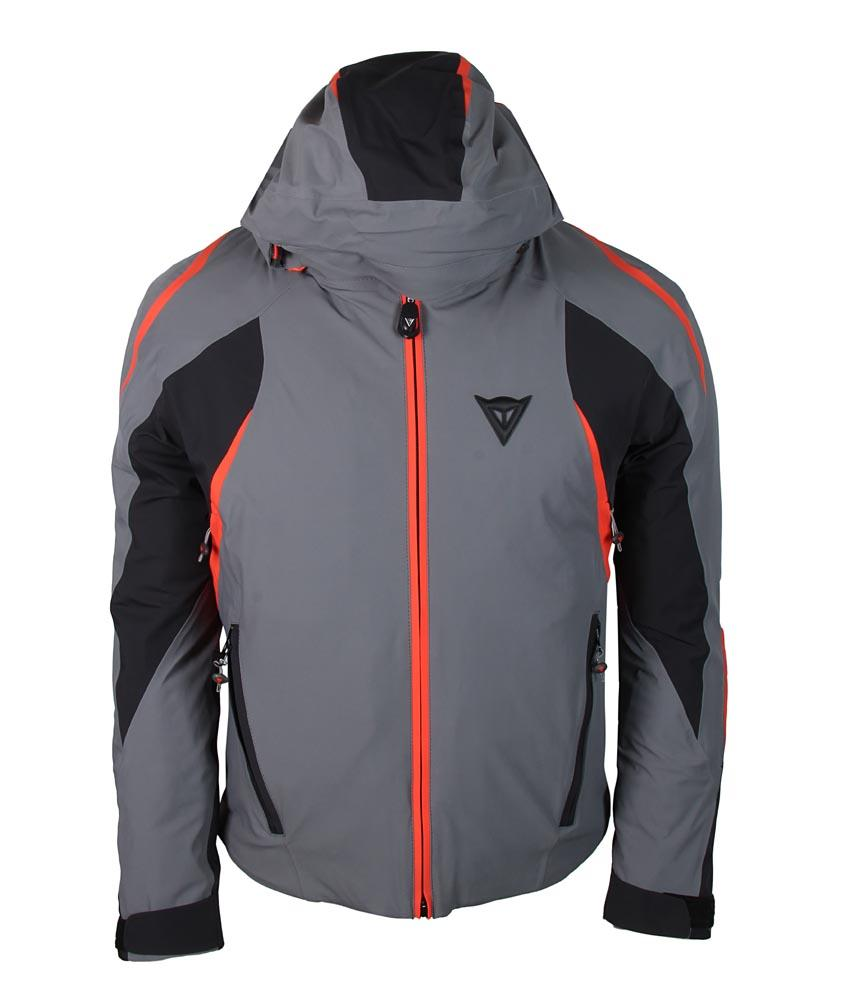 Dainese Deimos D-Dry Jacket Steel-Gray/Black/Light-Red