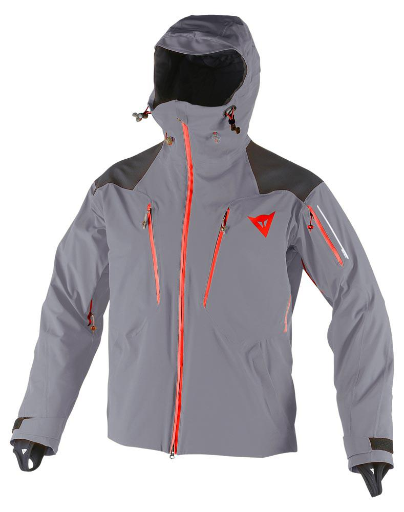DAINESE Proteo D-Dry Jacket Steel-Gray/Light-Red