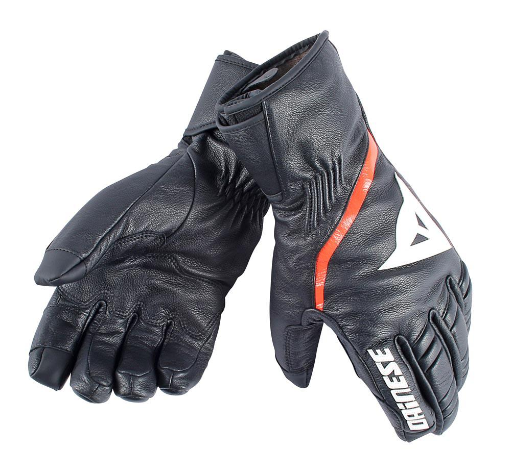 Dainese Speedcarve 13 Gloves Black/White/Light-Red