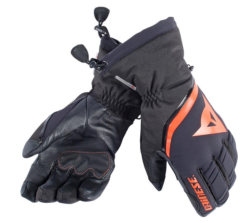 Black light gloves - Dainese Flow Line 13 Goretex Gloves Black Light Red