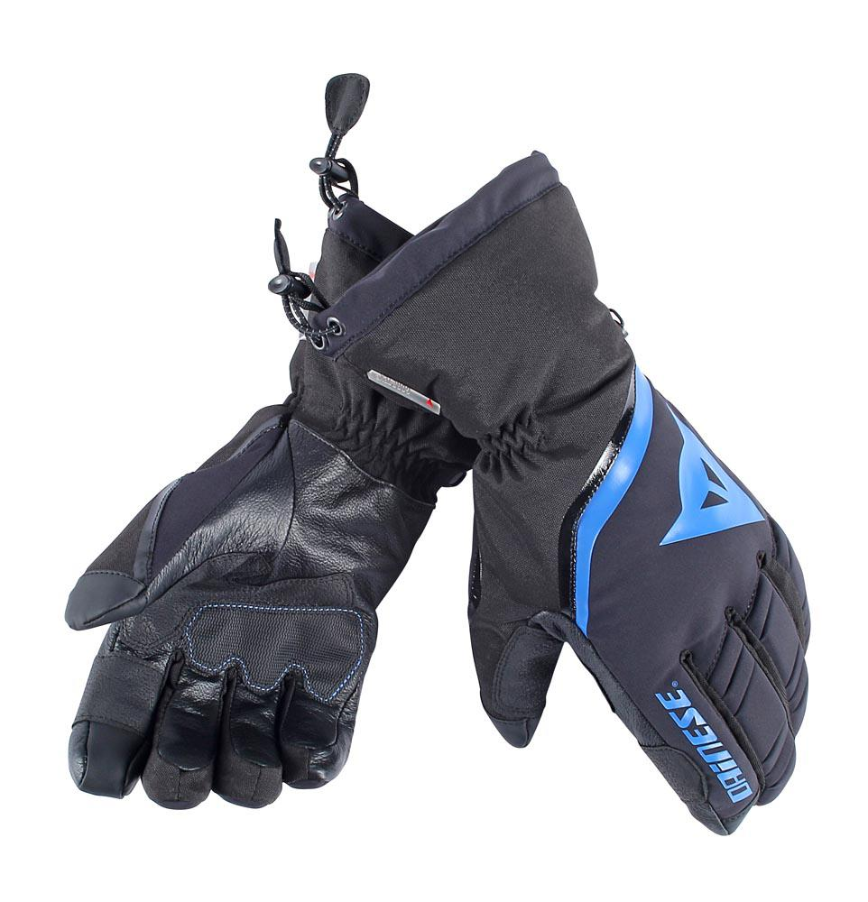 Dainese Flow Line 13 Goretex Gloves Black/Sky-Blue