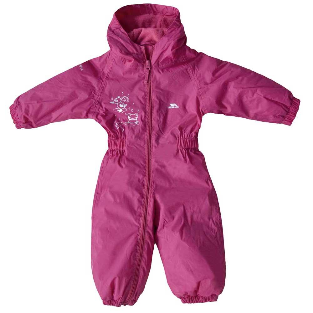9f0a4352dbe8 Trespass Dripdrop Rain Suit Child Purple