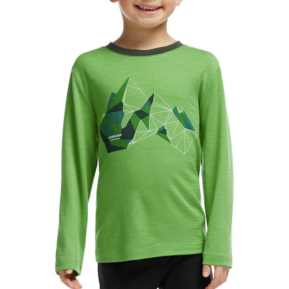 Icebreaker Kids Tech L/S Crewe Glass Mountain Boy
