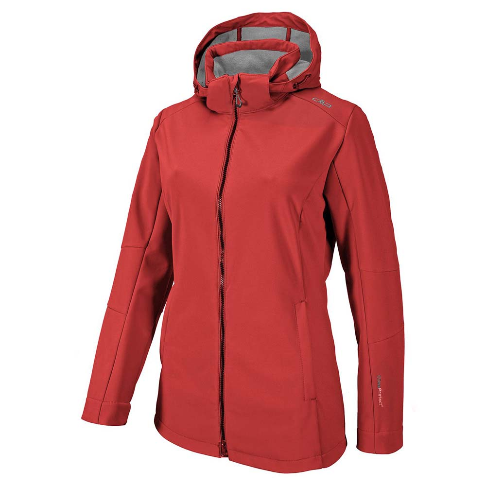 Cmp Zip Hood Comfort Fit Softshell