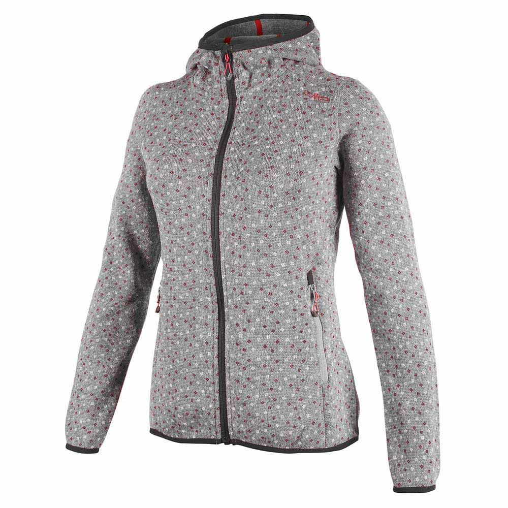 Cmp Outdoor Fix Hood Knitted Printed