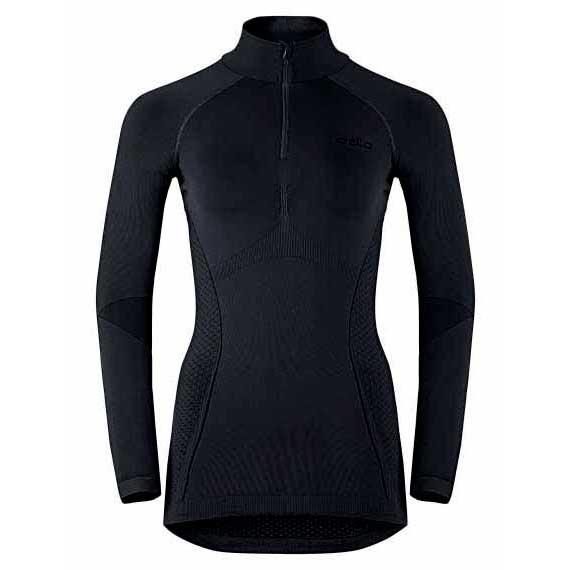 odlo-evolution-warm-shirt-l-s-turtle-neck-1-2-zip-l-black-odlo-graphite-grey-l