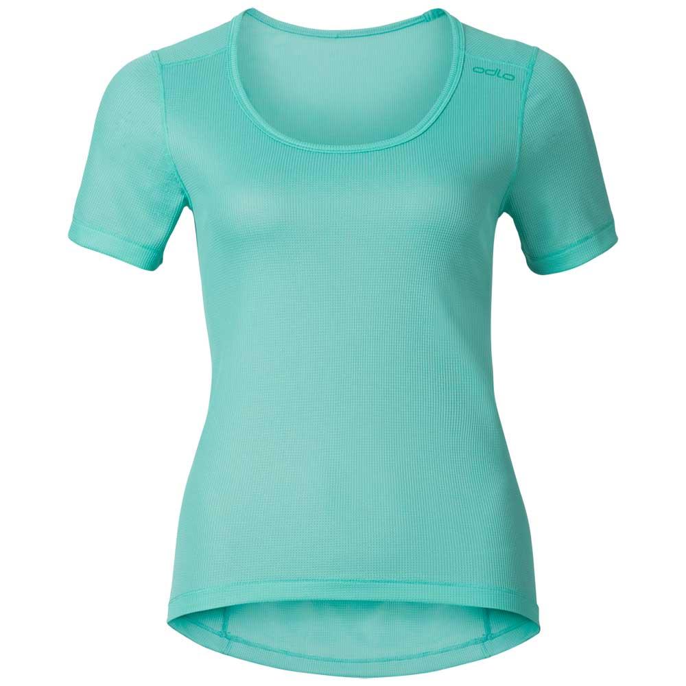 t-shirts-odlo-shirt-s-s-crew-neck-cubic-xs-turquoise