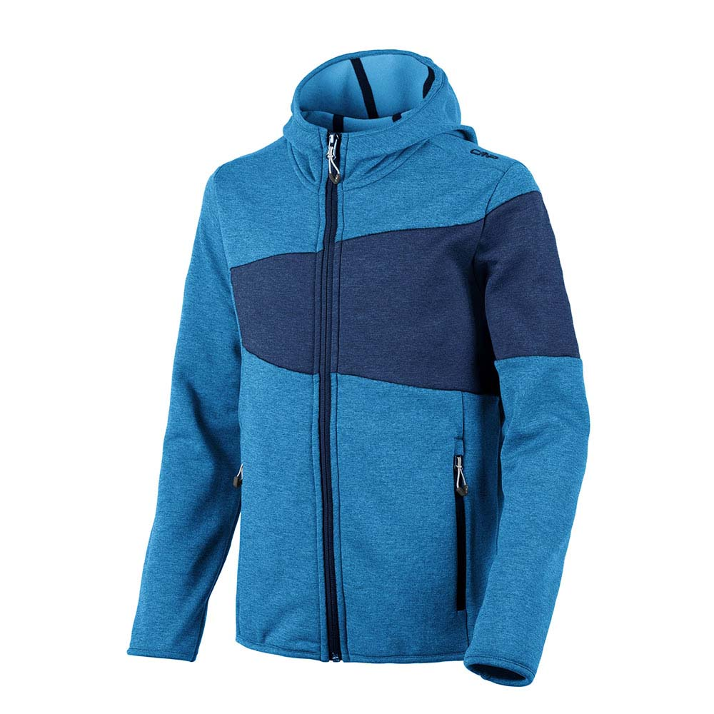 Cmp Boy Stretch Performance Melange Fix Hood Full Zip