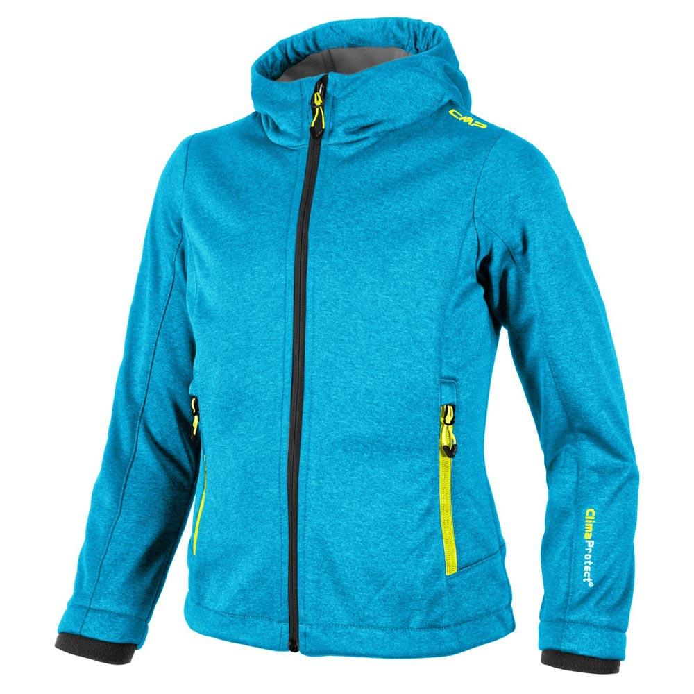 Cmp Girl Softshell Fix Hood Melange