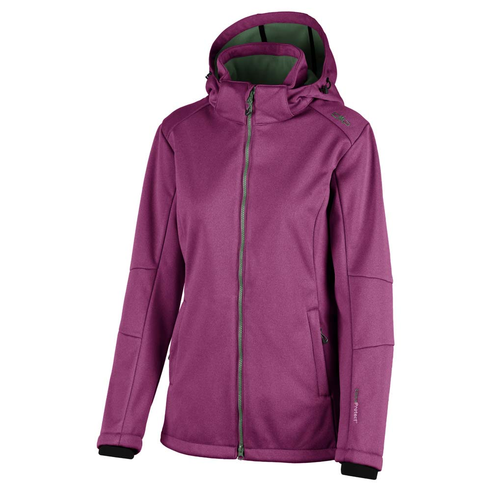 Cmp Softshell Zip Hood Comfort Fit Short