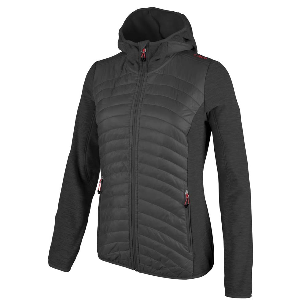 Cmp Fix Hood Hybrid Fleece Melange Jacket