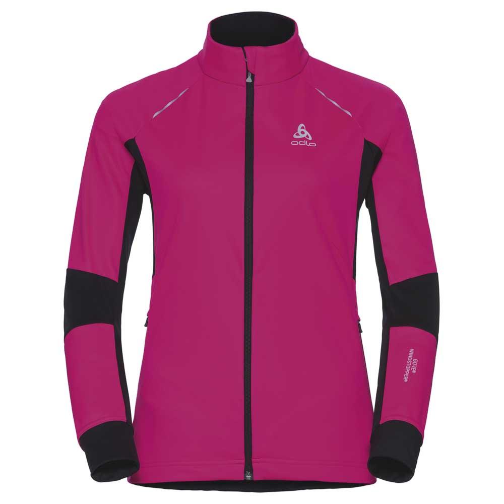 jacken-odlo-aeolus-windstopper-xl-pink-glo-black
