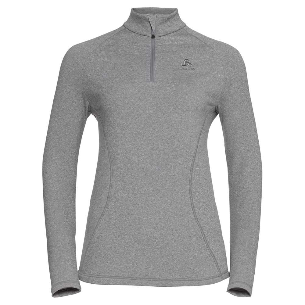 fleece-odlo-glade-midlayer-1-2-zip-xl-grey-melange-with-print