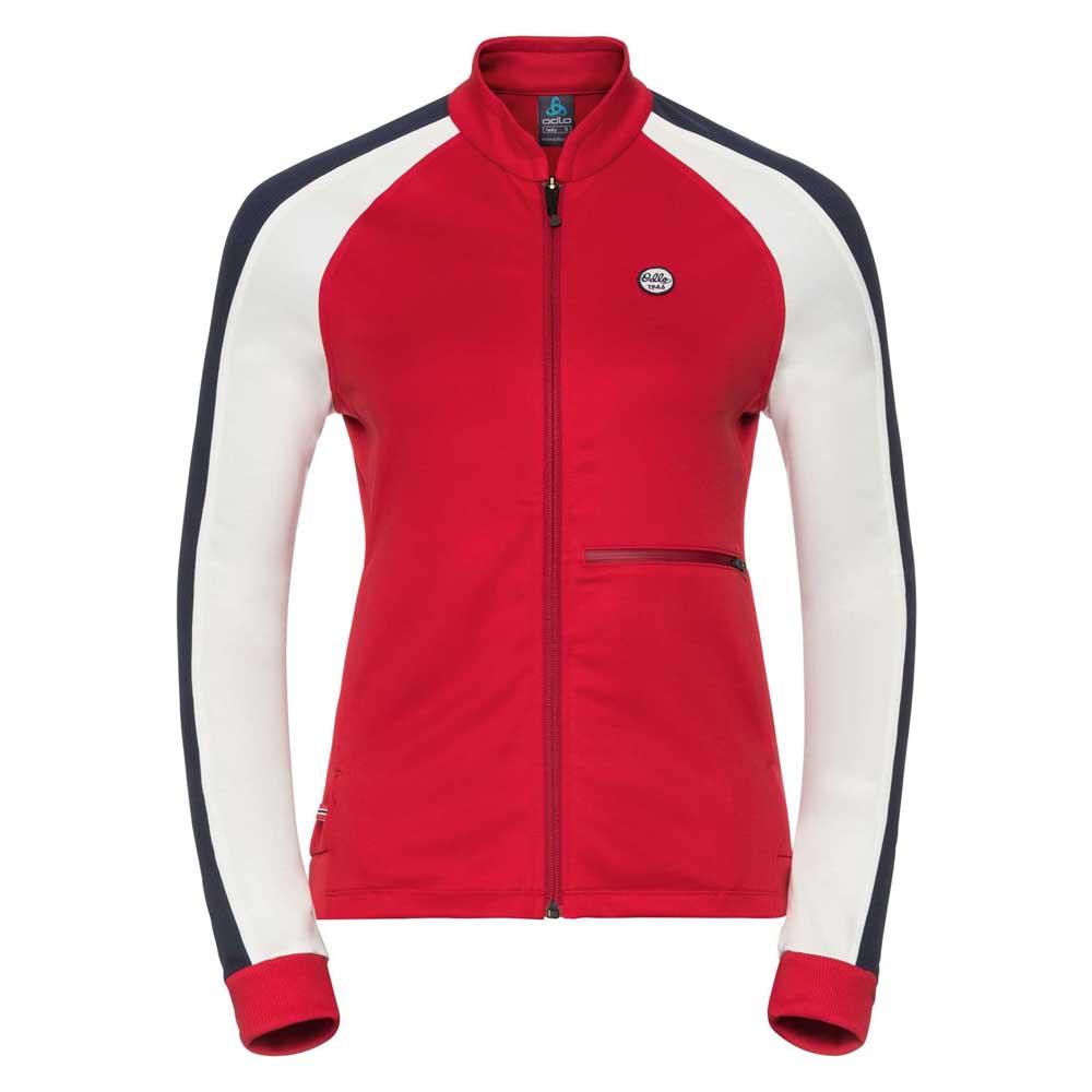 fleece-odlo-berit-midlayer-full-zip-xs-chinese-red-snow-white