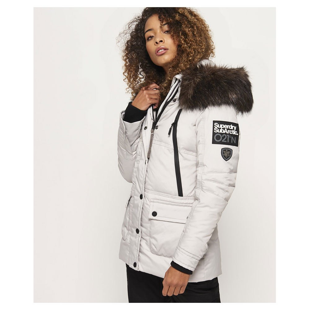 Superdry Canadian Down Ski Parka White buy and offers on Snowinn 134a7b7fa