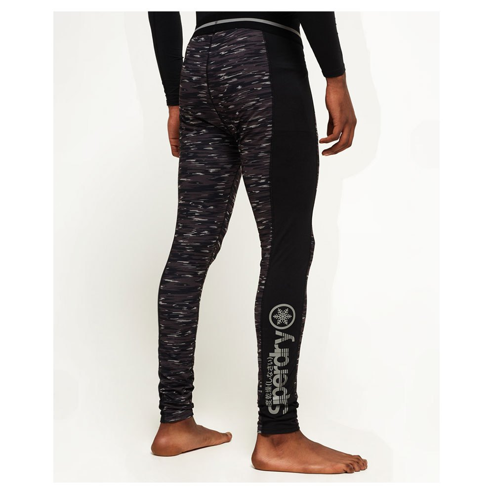 Superdry Carbon Baselayer Legging Noir, Snowinn