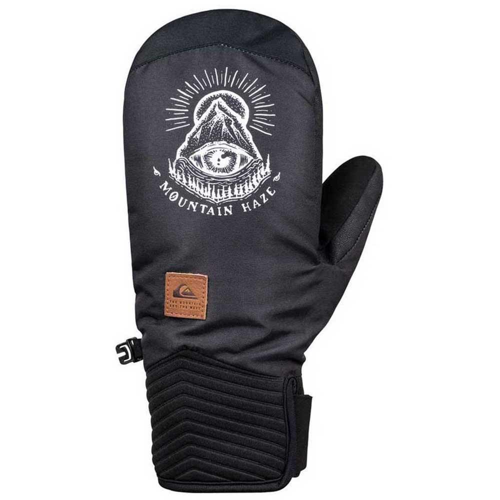 Black Quiksilver /'/'White Man/'/' Gloves
