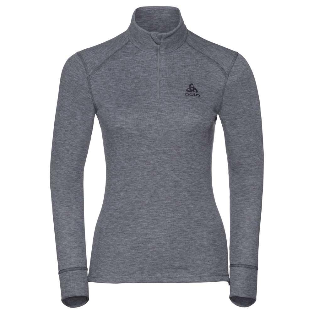 unterwasche-odlo-shirt-l-s-turtle-neck-1-2-zip-warm-l-grey-melange