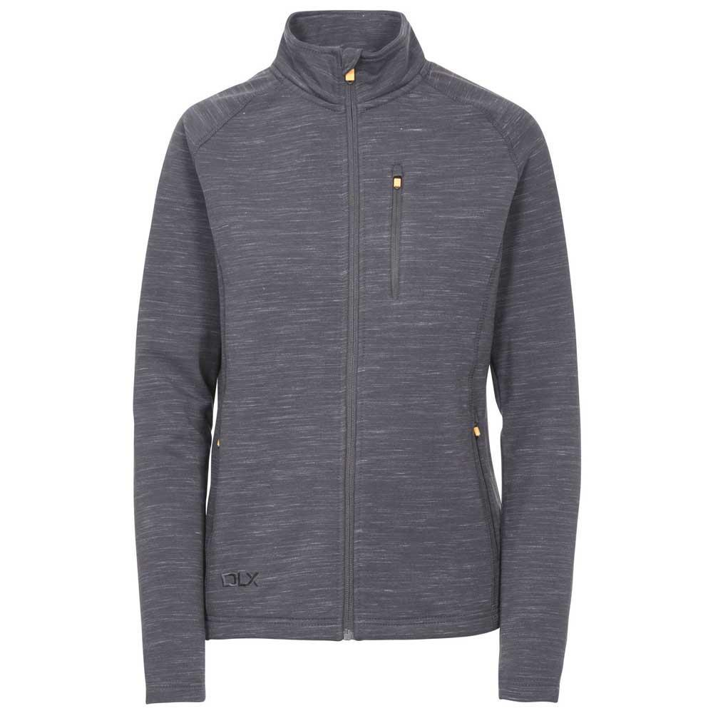 Trespass Ladies Valeo Full Zip 2 Pocket Hooded Fleece Jacket Black