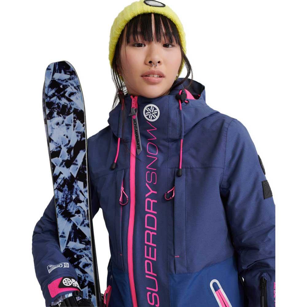 Superdry Slalom Slice Ski winterjas dames vortex navy mix