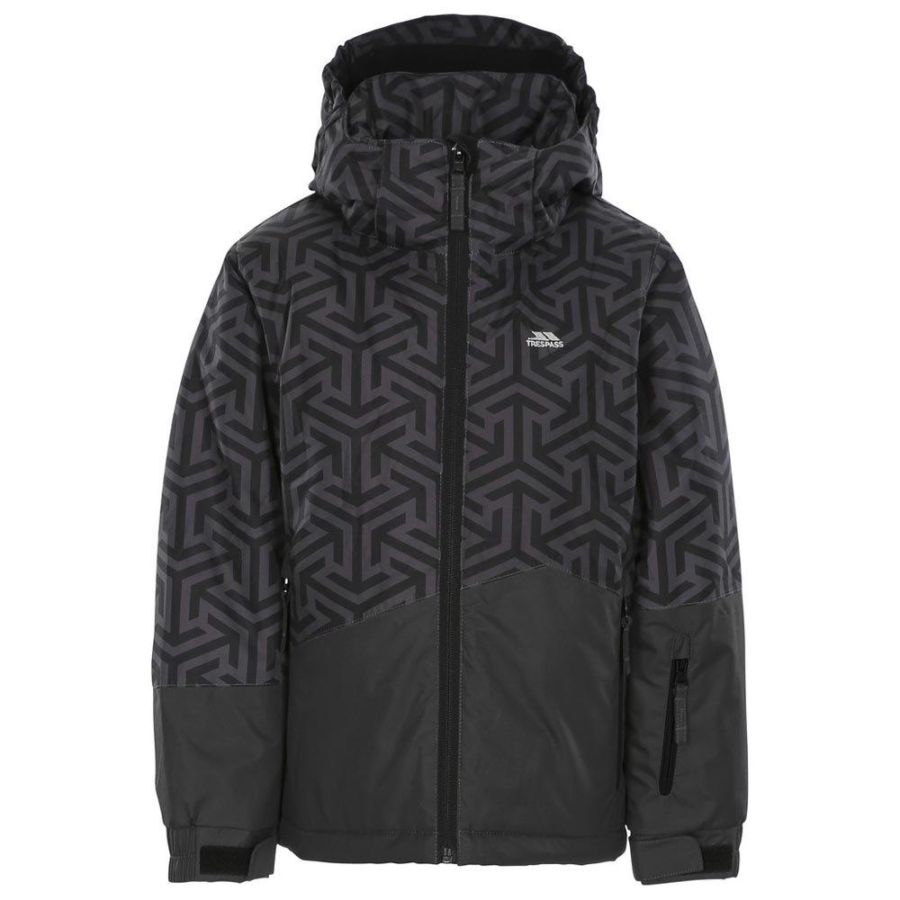Trespass Childrens Wato Warm Padded Waterproof Ski Jacket with Detachable Hood and Hem Drawcord