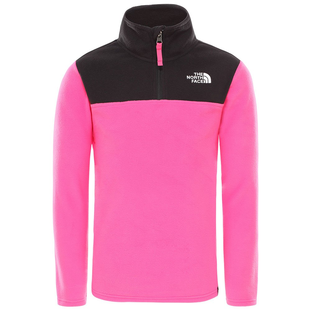 fleece-the-north-face-youth-glacier-1-4-zip-recycled-l-mr-pink