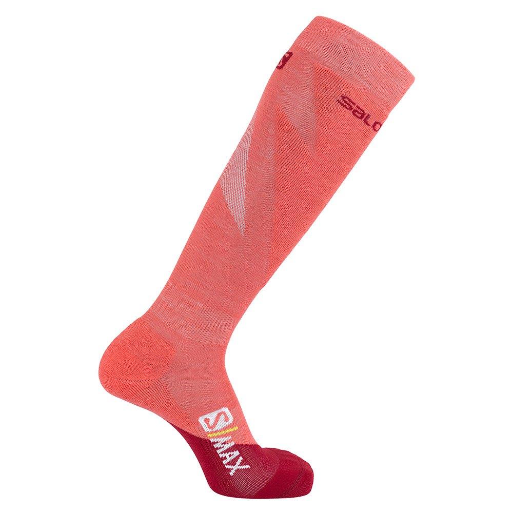 socken-salomon-socks-s-max-eu-36-38-rio-red-calypso-coral