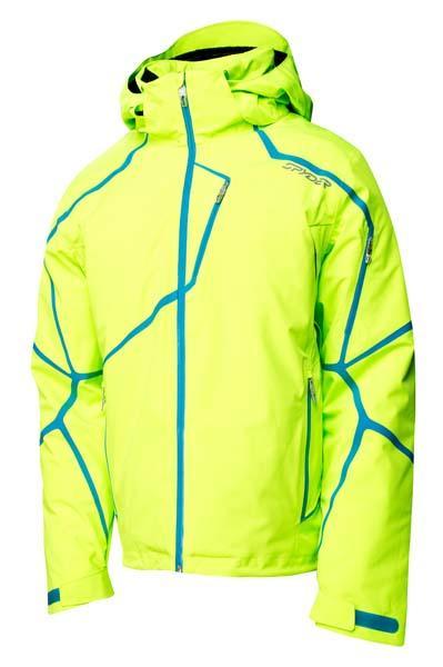 Buy Mens Spyder Esper Jacket - Ski Store Spyder Esper Bryte Green   Electric Blue Man 629904 P