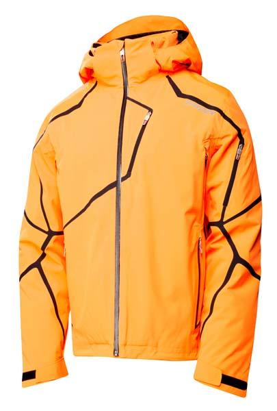 France Mens Spyder Esper Jacket - Ski Store Spyder Esper Bryte Orange   Black Man 629907 P