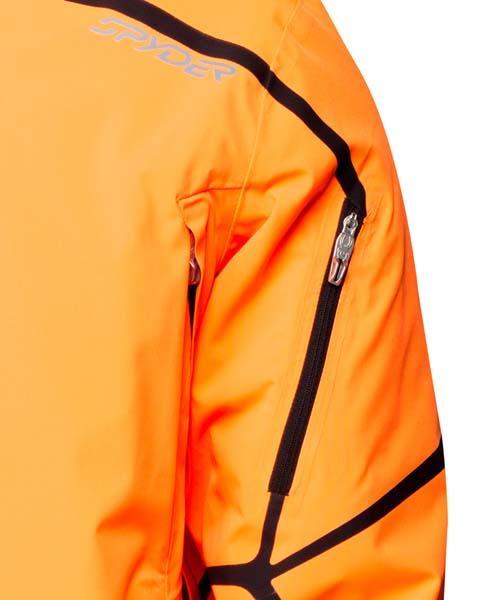 Reduced Mens Spyder Esper Jacket - Ski Store Spyder Esper Bryte Orange   Black Man 629907 P
