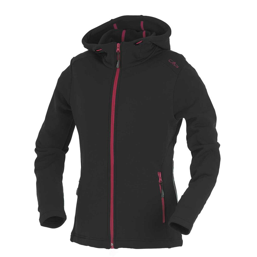 Cmp Jacket Fix Hood Antracite-Scarlet