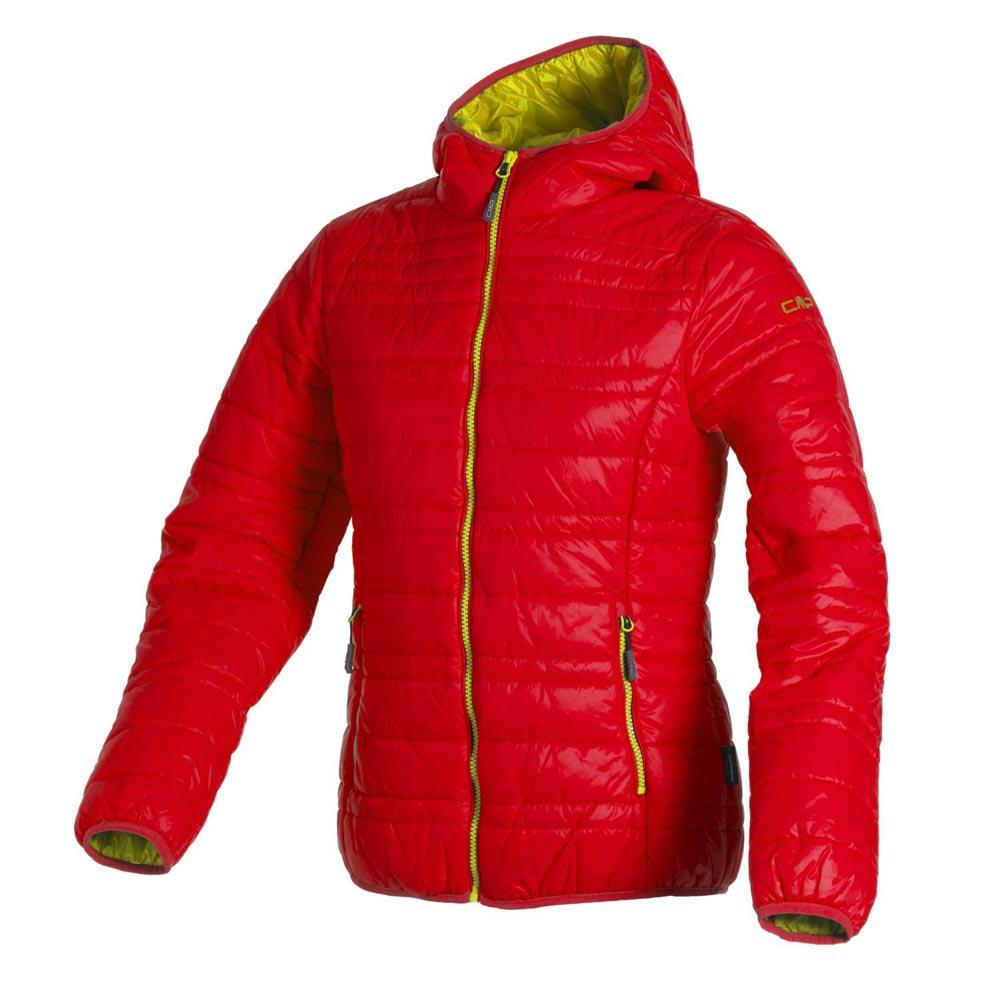 Cmp Jacket Fix Hood Red Fluo-Yellow