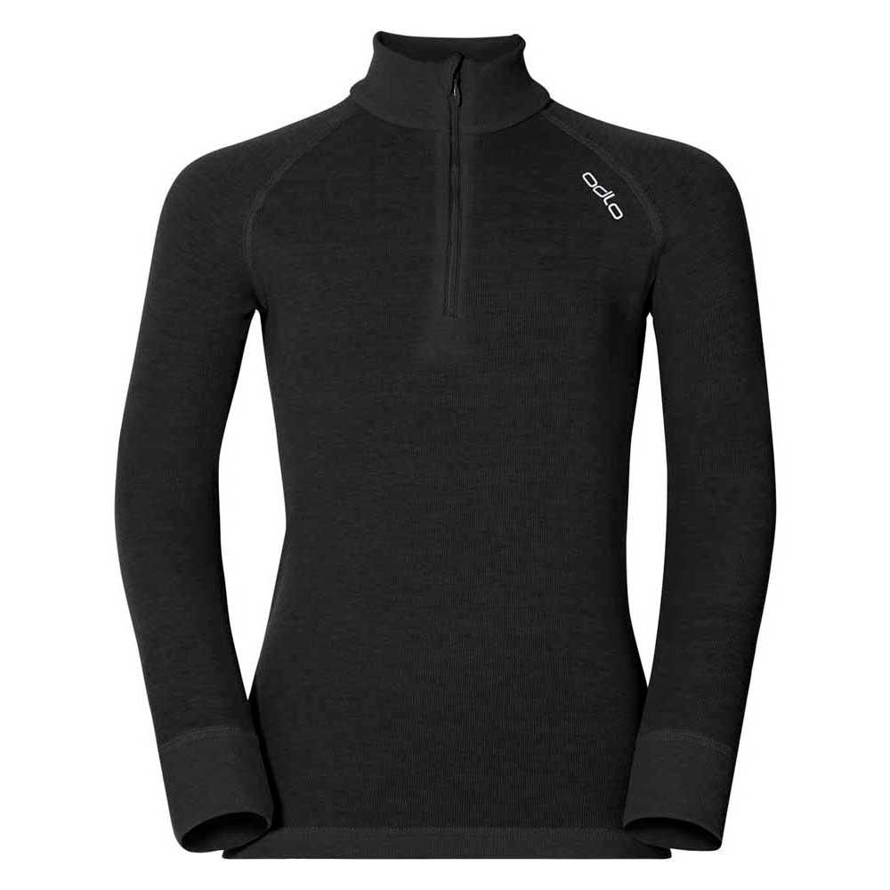 unterwasche-odlo-shirt-l-s-turtle-neck-1-2-zip-warm-104-black