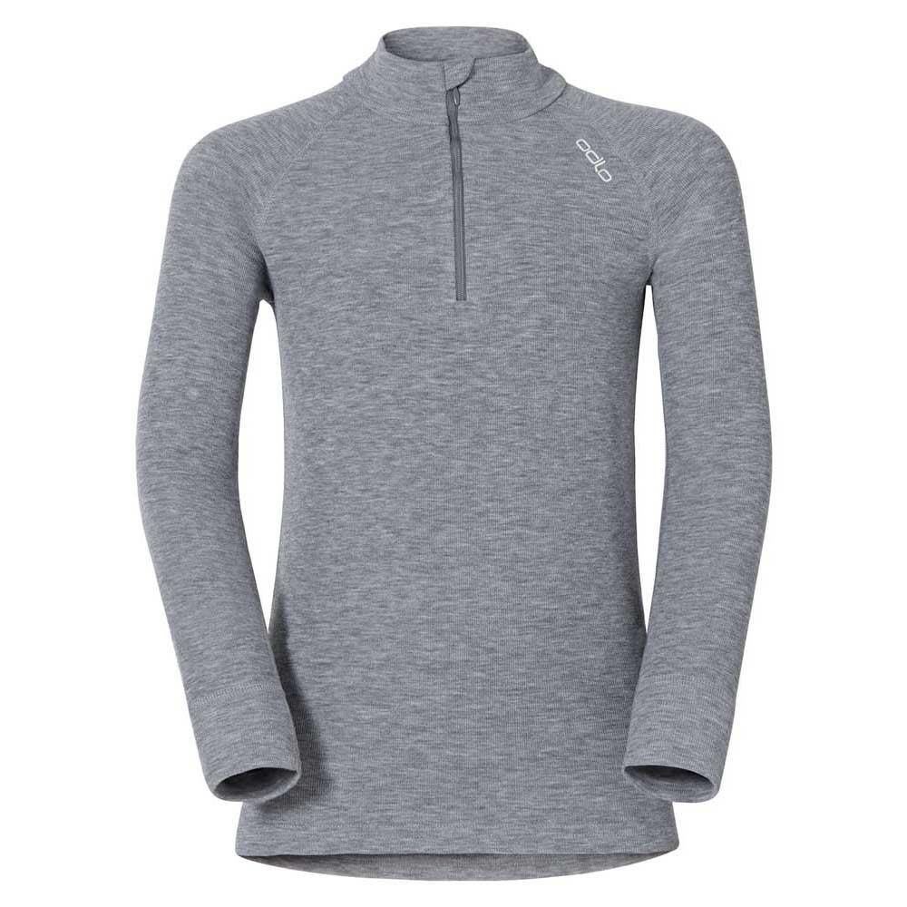 unterwasche-odlo-shirt-l-s-turtle-neck-1-2-zip-warm-104-grey-melange