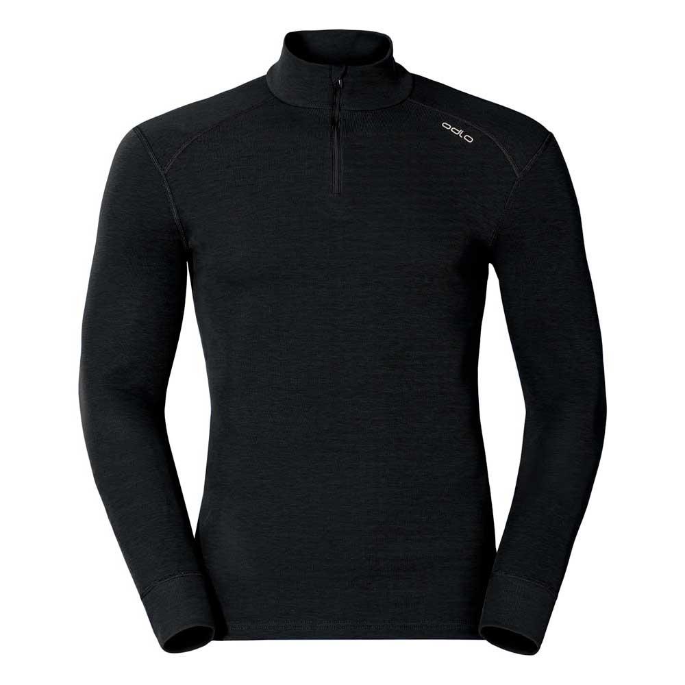 unterwasche-odlo-shirt-l-s-turtle-neck-1-2-zip-warm-s-black