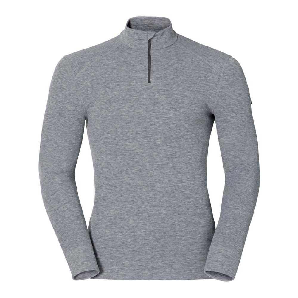 unterwasche-odlo-shirt-l-s-turtle-neck-1-2-zip-warm-s-grey-melange